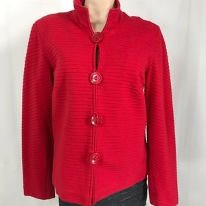 Cold water creek red blazer size large